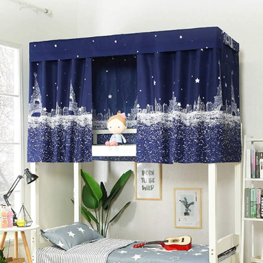 Students Dormitory Bunk Bed Tent Curtain Lightproof Dustproof Cloth Canopy Spread Blackout Curtains Mosquito Protection Screen