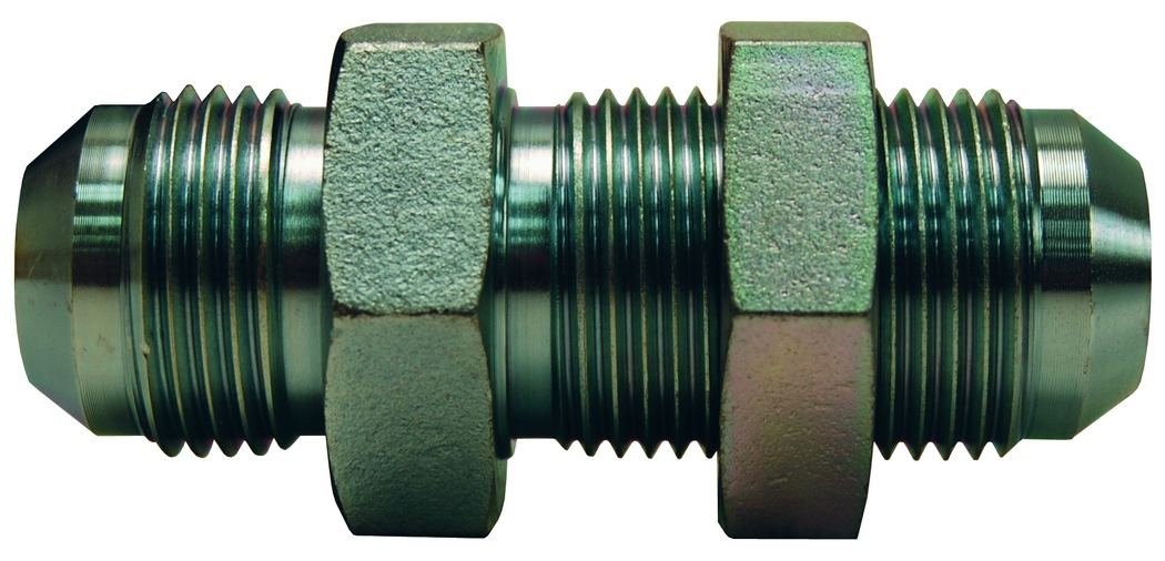 Dixon 2700LN-8 JIC 37/° Flare Bulkhead Union w//Lock Nut 3//4-16 Plated Steel