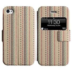 LEOCASE Tira Vertical Funda Carcasa Cuero Tapa Case Para Apple iPhone 4 / 4S No.1000572