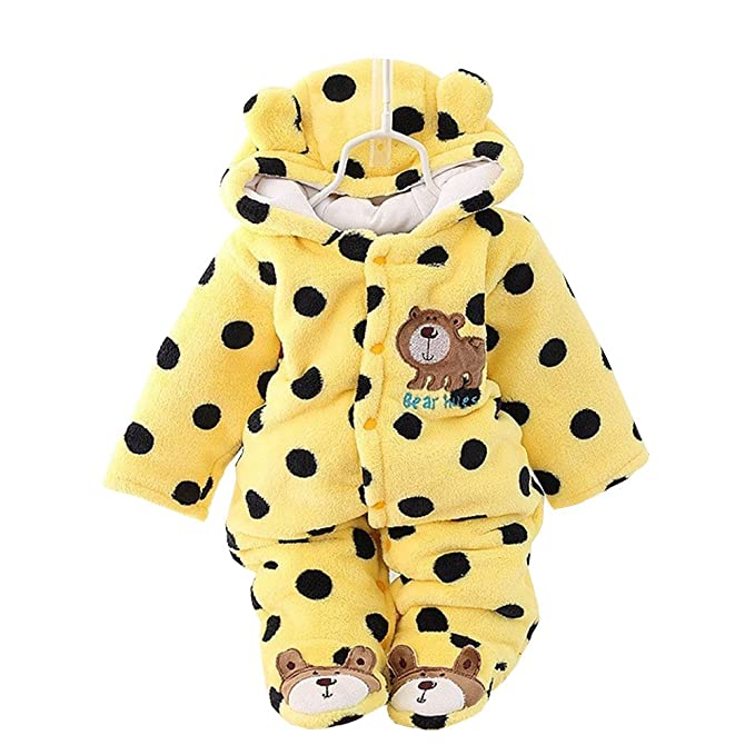 16ea50c8c Amazon.com  Baby Rompers Winter Infant Rompers Toddler Clothing ...