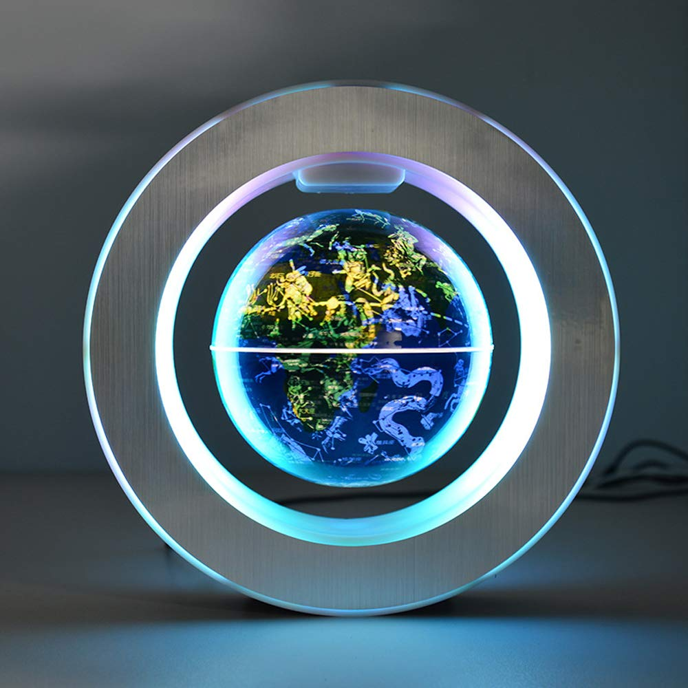 YANGHX Magnetic Levitation Floating World Map With Constellations LED Light Globe 2 in 1 Anti Gravity Suspending In The Air Decoration Gadget Children's GIFT ( Blue 6 inch ) by YANGHX (Image #6)