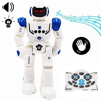 deAO RC Robot Programable, Inteligente e Interactivo con Sensor de Movimiento Acciones y Efectos Múltiples, Luz y Sonido