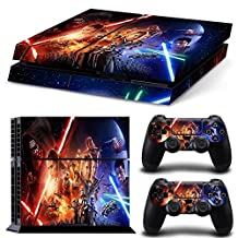 FreeSticker® PLAYSTATION 4 Designer Skin Game Console System 2 Controller Decal Vinyl Protective Stickers Sony PS4 - STAR WARS SPACE FORCE ALL EPISODES