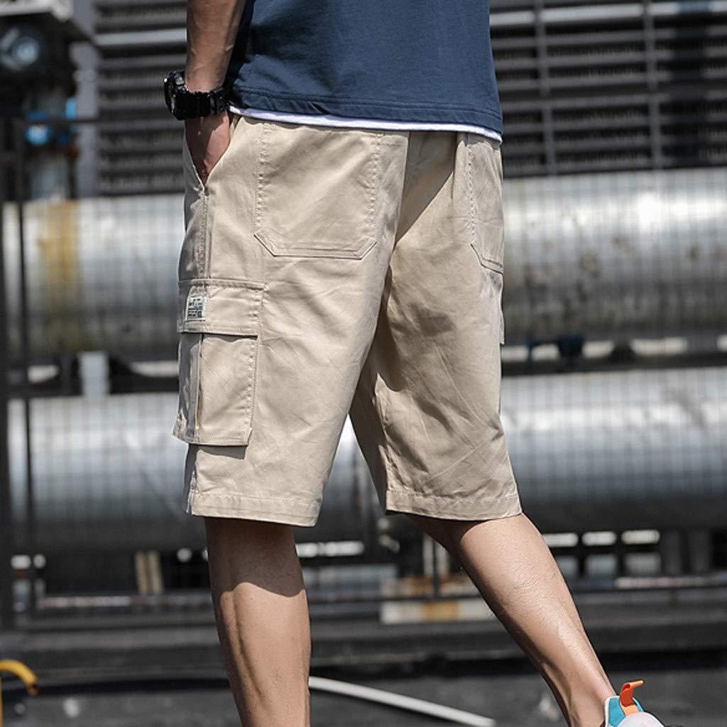 ღPantaloni Corti Bermuda Cargo Uomo ღxinxinyu Lavoro Pantaloni Tasconi con Elastico Pantofole Uomini Estive Casual Pantaloncino Sportivi Cascante Baggy Estivi Pantaloni Corti,M-7XL