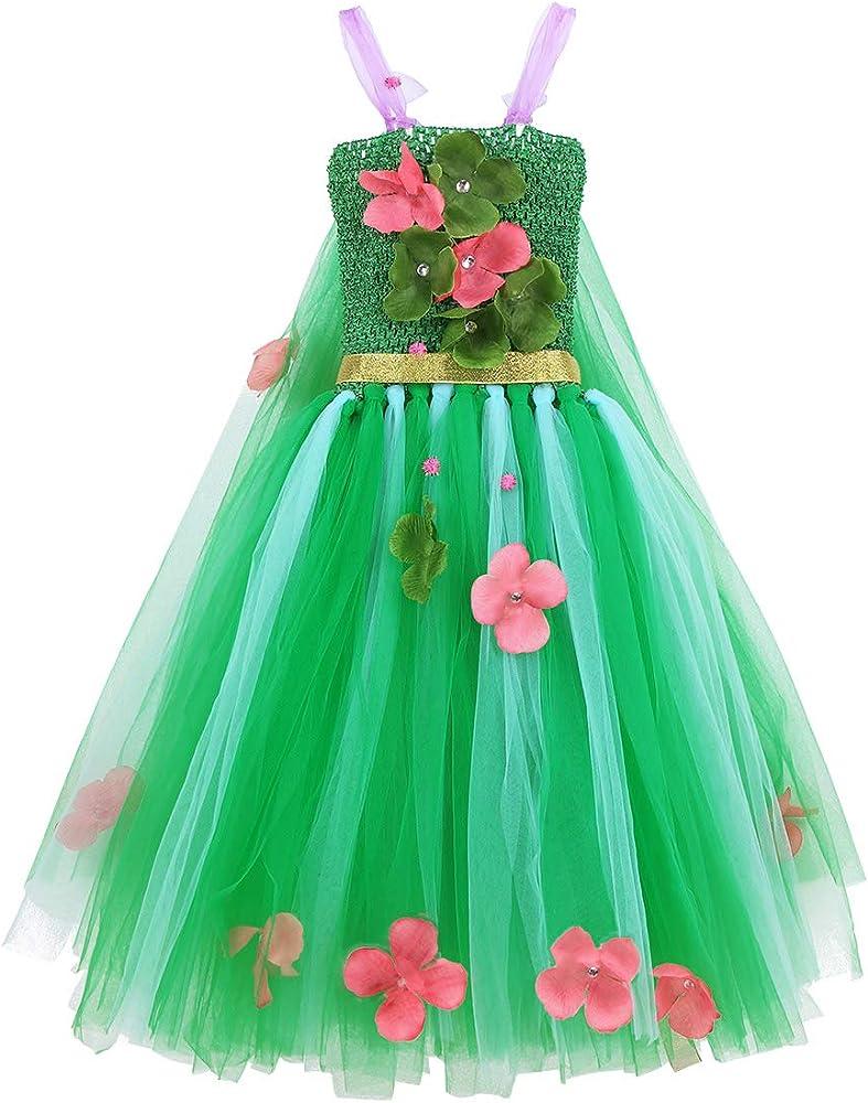 YiZYiF Disfraz Hada del Bosque Niñas Vestido Fiesta Cumpleaños ...