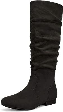 DREAM PAIRS Women's Flat Winter Knee High Boots