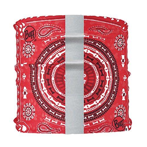 Buff Dog Neckwear Reflective, Dogdana Red, Medium/Large -