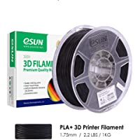 eSUN PLA+ 3D Printer Filament, PLA Plus Filament 1.75mm, Dimensional Accuracy +/- 0.03mm, 2.2 LBS (1KG) Spool 3D Printing Filament for 3D Printers, Black
