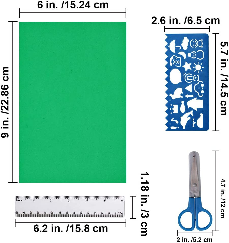Crafts Childrens Scissors with 5cm Ruler Select Quantity