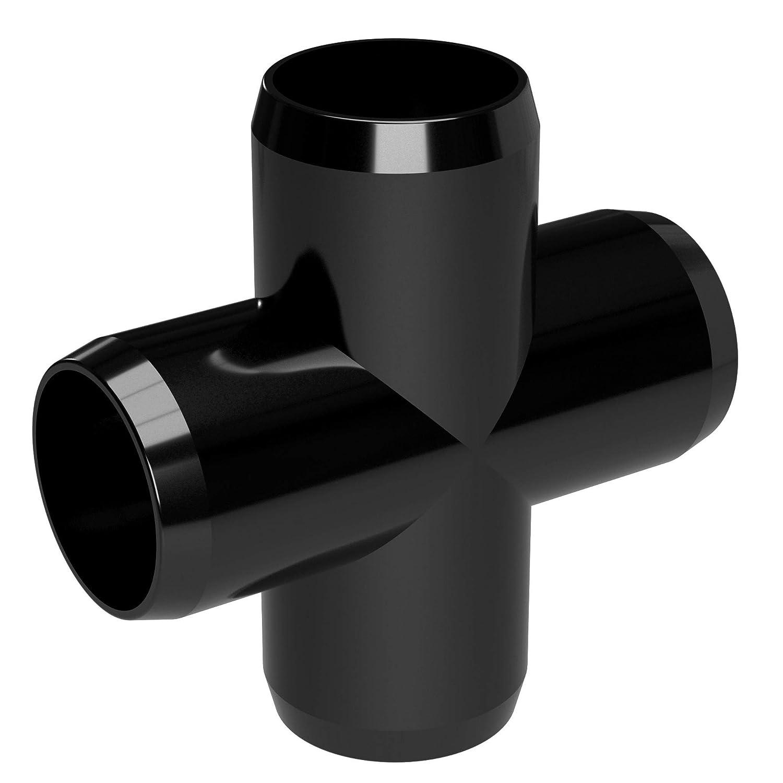 Black Furniture Grade 3//4 Size FORMUFIT F034CRX-BK-8 Cross PVC Fitting Pack of 8