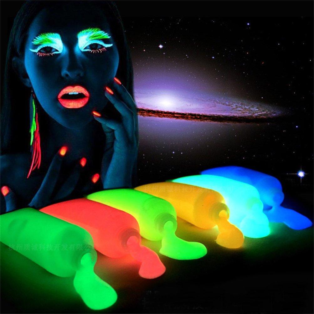 Iusun Halloween Christmas Glow In Dark Body Art Paint Luminous Face Body Makeup Paints (H)