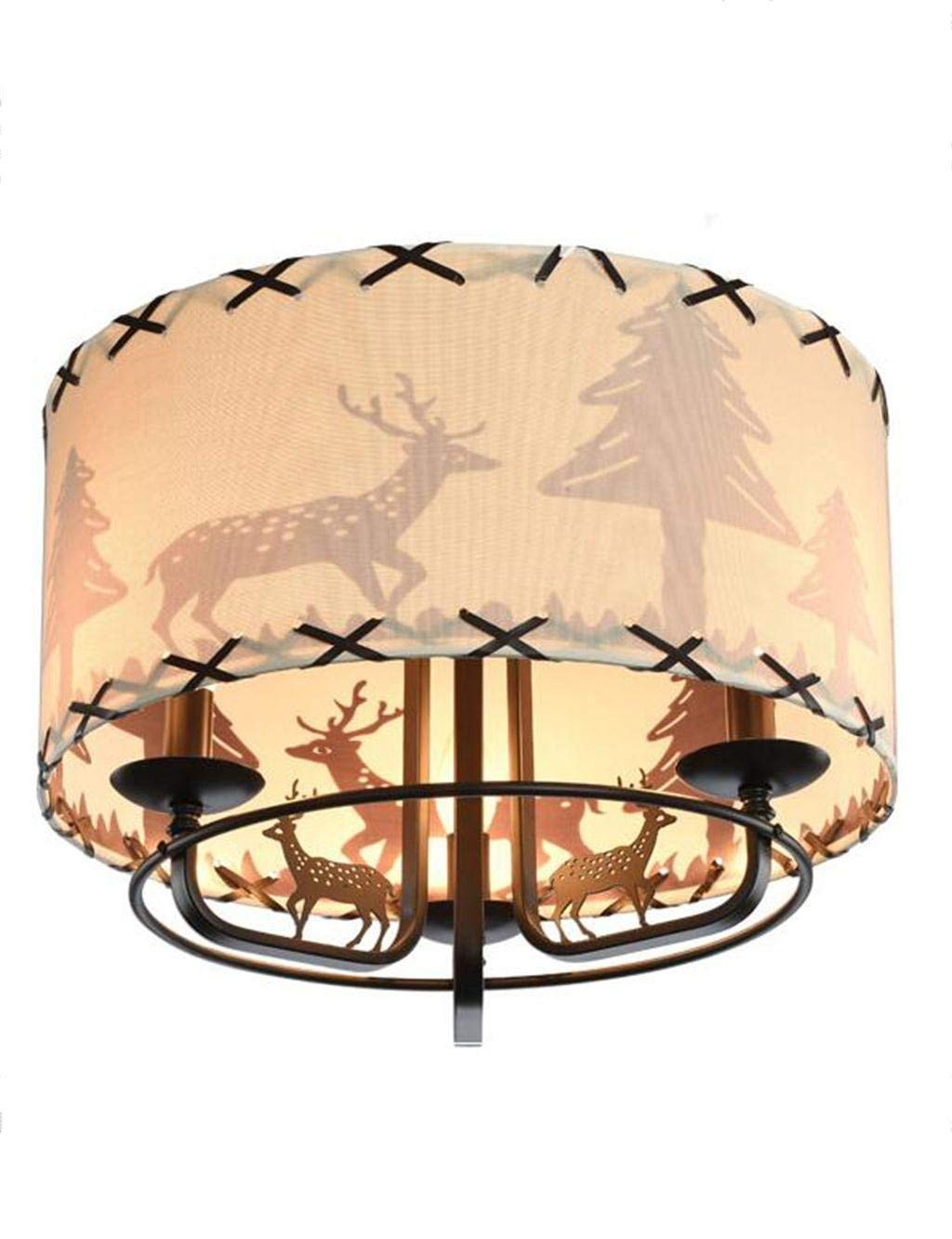 YANG Ceiling Light-American Iron Creative Cartoon Children's Bedroom Energy Saving