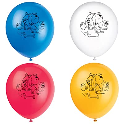 """12"""" Latex The Secret Life of Pets Balloons, 8ct: Toys & Games"""