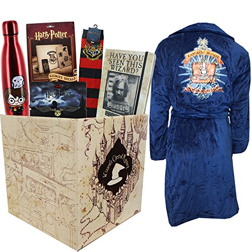 Harry Potter Gift Box with Water Bottle & Fantastic Beasts Bath - Make Harry Robe Potter