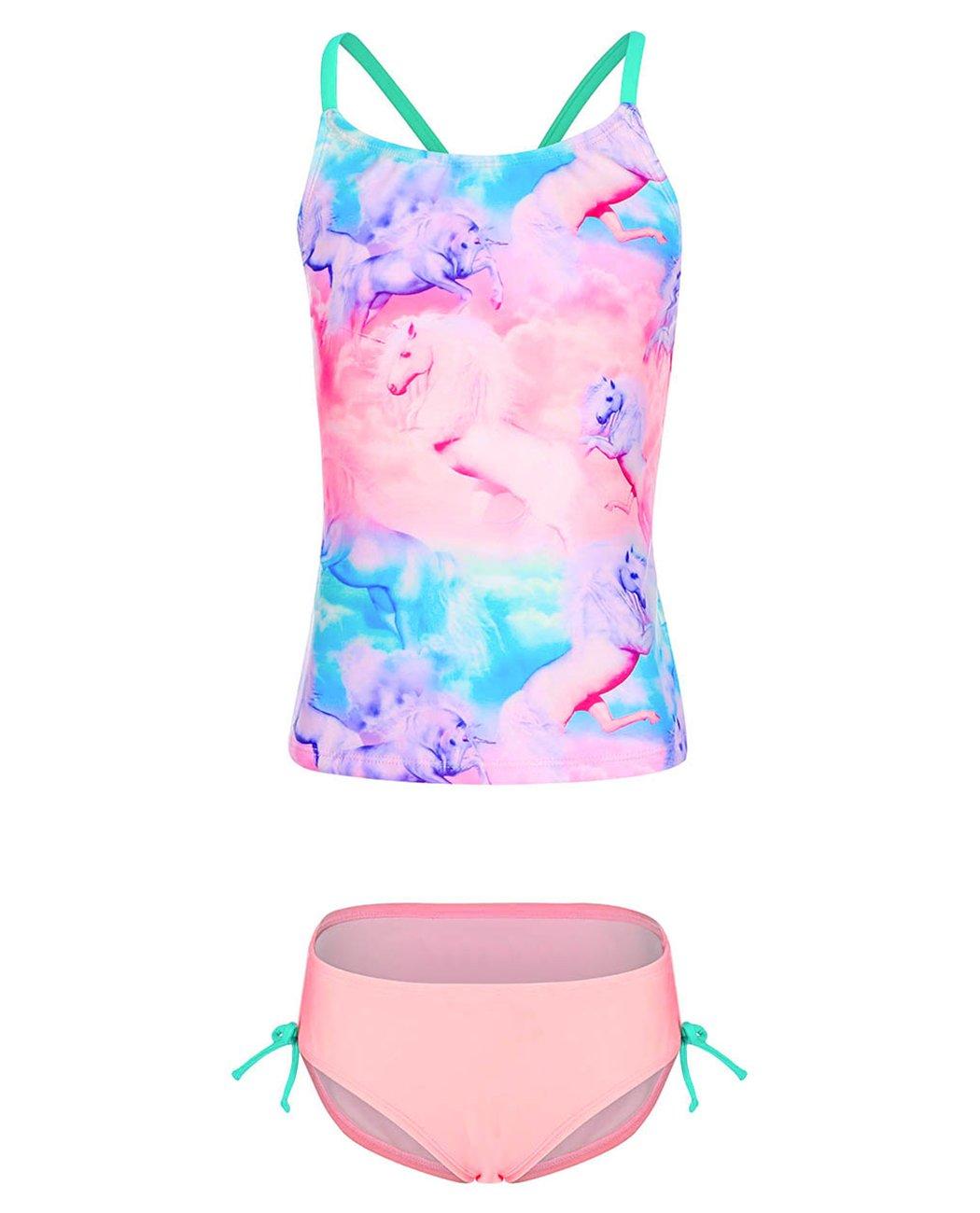 iDrawl Girls Two Piece Swimwear, Racerback Beach Swimming Bathing Suits by iDrawl (Image #1)