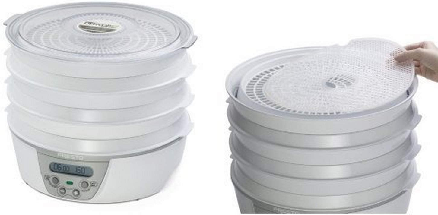 Presto 06301 Dehydro Digital Electric Food Dehydrator and Presto 06307 Dehydro Electric Food Dehydrator Nonstick Mesh Screens Bundle