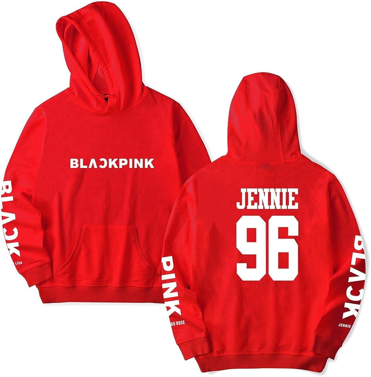 SIMYJOY Amants Kpop Blackpink Cadeau de Saint Valentin Sweats /à Capuche Pulls Blackpink Coll/ège Hip Hop Sweat Shirt pour Hommes Femmes Adolescents