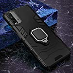 Fancyart Back Cover for Mi Redmi 9 Power | D5 Stand Case Defender Armor Kickstand with Megnetic Ring Holder Heavy Duty…