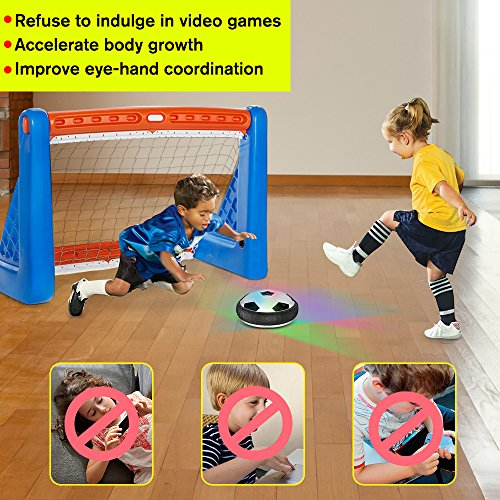 VersionTech Hover Ball, Kids Boys and Pets Toys, Soccer Hockey 2 in 1 Pneumatic Suspension Floating with Colorful LED Lights for Indoor Outdoor Team Interaction Games