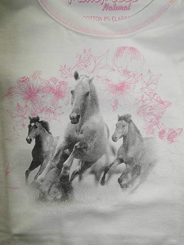 Pampress M/ädchen Unterhemd mit Pferde Motiv