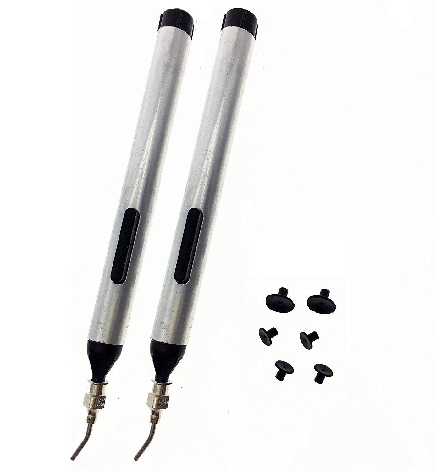 YXQ IC SMD Pick Place Vacuum Sucking Pen Picker Up Hand Tool with Suction headers(2Pcs)