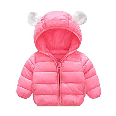 8b82d9eb1e08 Functionaryb Baby Girl Jackets Winter Outerwear Pink Solid Warm ...
