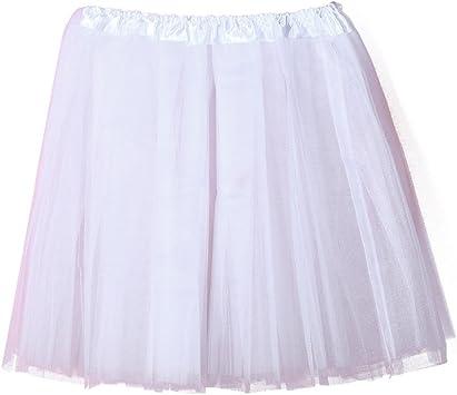 Tefamore Falda de Tul para Mujer Cancan Enagua Faldas Princesas ...