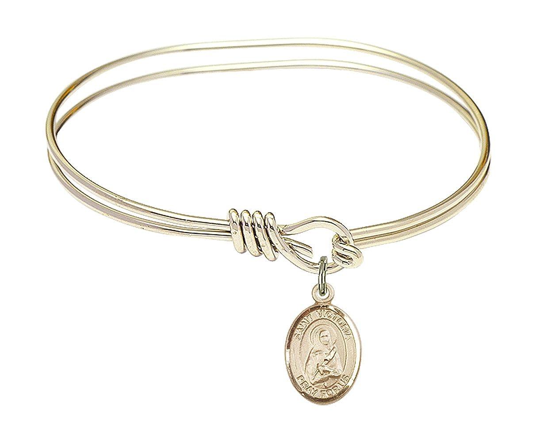 Victoria Charm. DiamondJewelryNY Eye Hook Bangle Bracelet with a St