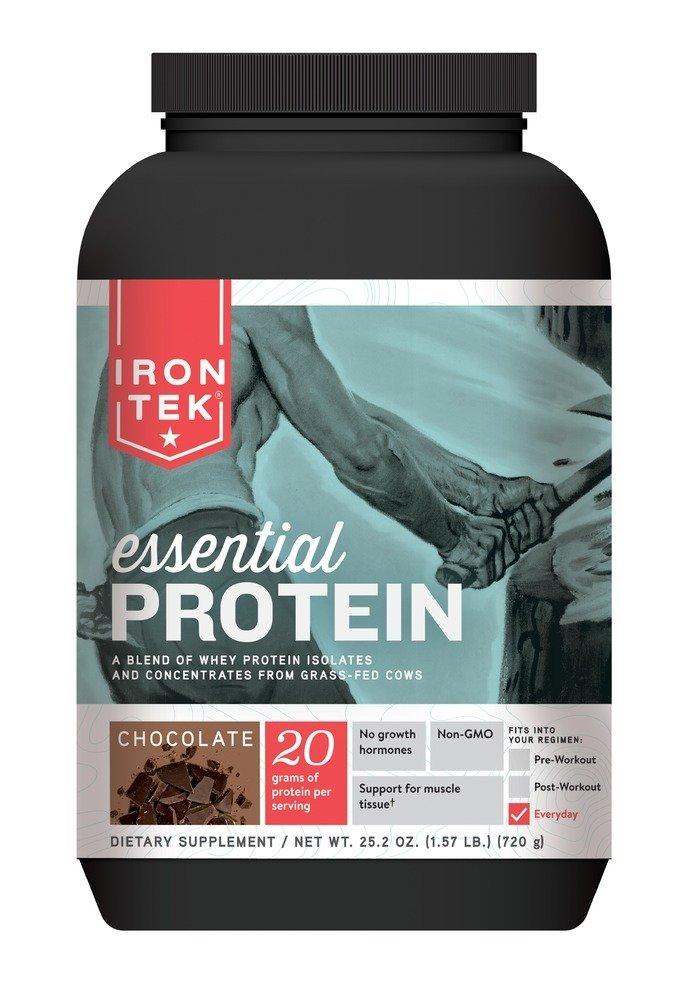 Iron Tek Essential Natural High Protein, Chocolate 1.57 lb(720g)