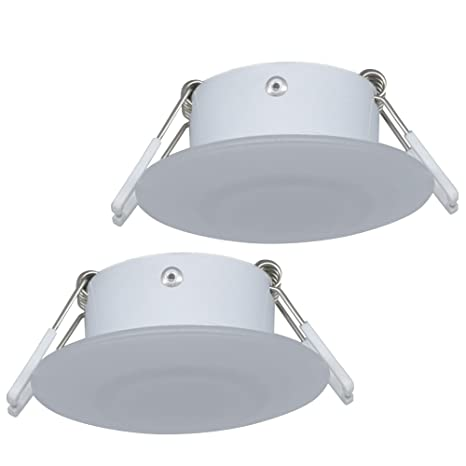 on sale 290f3 196ad Facon 3 Inch LED RV Puck Light Full Aluminum Recessed Mount Down Light 12V  3W 210Lumens(Pack of 2)