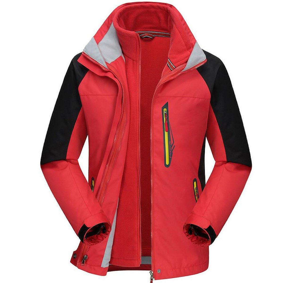 rouge XXX-grand Vestes De SurvêteHommest Amovibles Extérieures Imperméables à l'hiver Coupe Vent Vestes Rapides Rapides