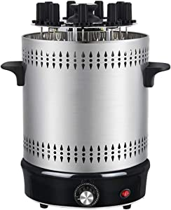 Vertical Rotisserie Oven, Smart Electric BBQ Grill Smokeless Automatic Rotating with Fuel Collection Tray for Broiling Meat Layers, Sausages