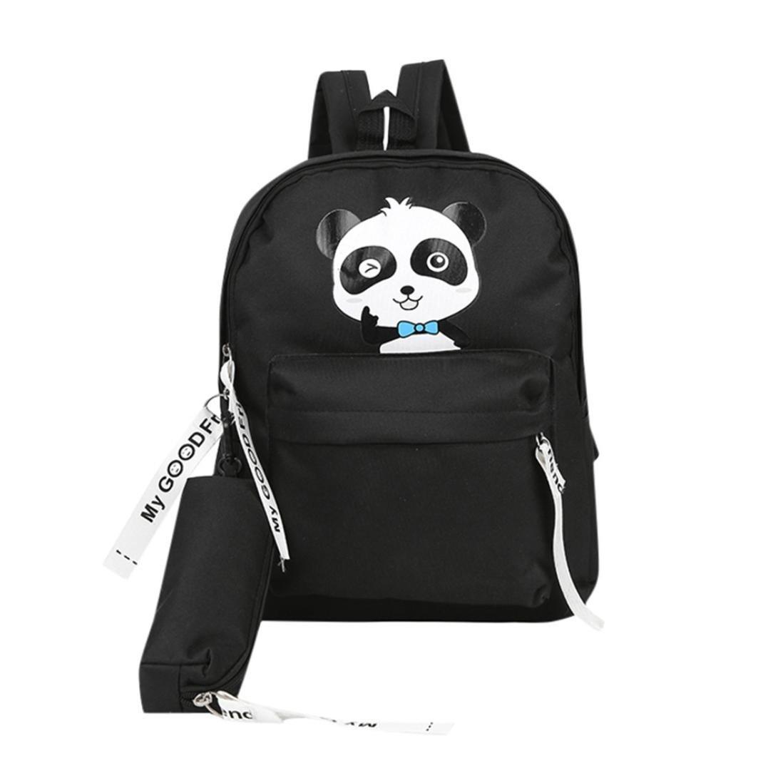 ce9b628d8e07 Amazon.com  Dinlong Toddler Kids Baby Boys Girls Adult Backpack Panda Print  Teenage Student School Bag Travel Backpack (14.9 x 11 x 5.19 inches