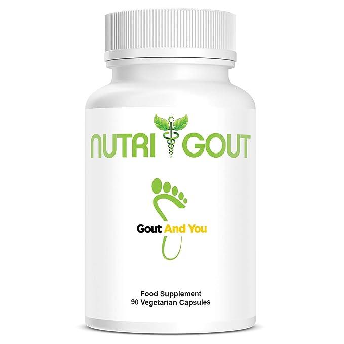 NutriGout - Fórmula de apoyo de ácido úrico de GoutandYou - Hecho en los Estados Unidos - 60 cápsulas vegetarianas de 500 mg: Amazon.es: Salud y cuidado ...