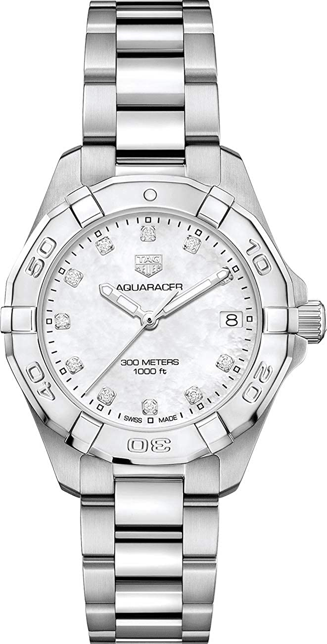 9bcc1a606c8 Amazon.com  TAG Heuer Aquaracer Stainless Steel 32mm Women s Watch  WBD1314.BA0740  Watches