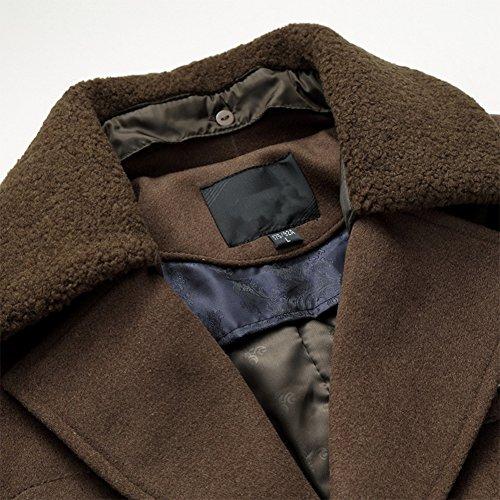 Herren mantel kurz braun