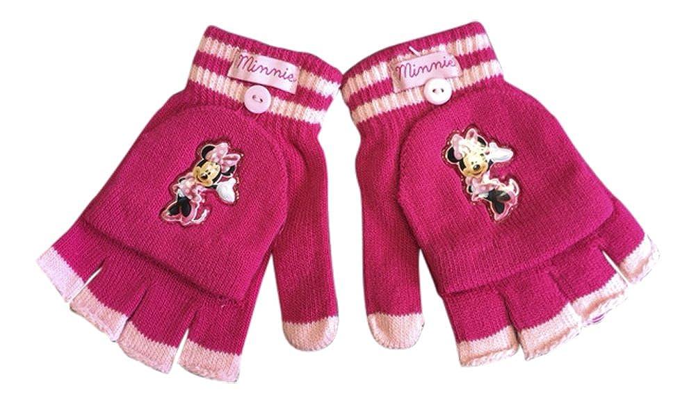 Disney M/ädchen Minnie Mouse Winterthermal F/äustling F/äustlinge Fingerlose Handschuhe in Cerise und Rosa