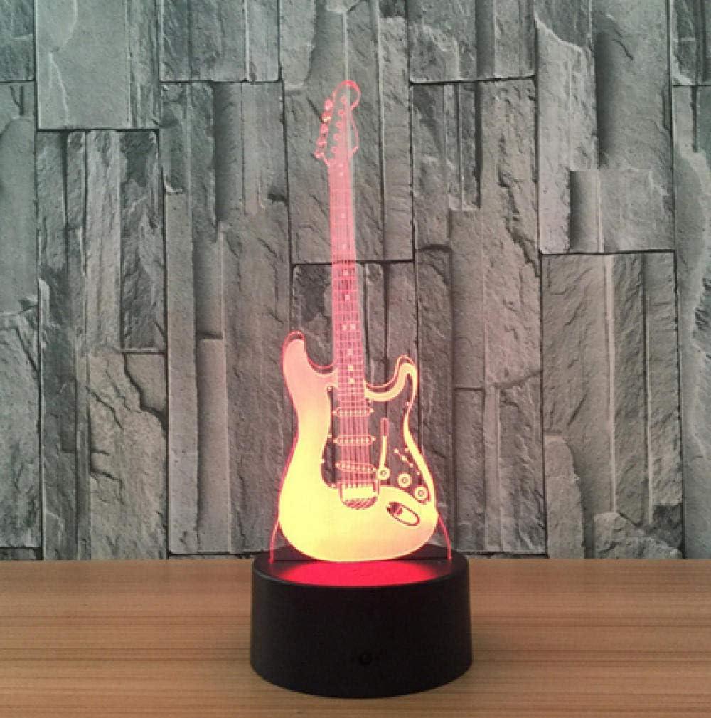 Guitarra Eléctrica Ilusión Óptica Humor De La Lámpara Decoración ...