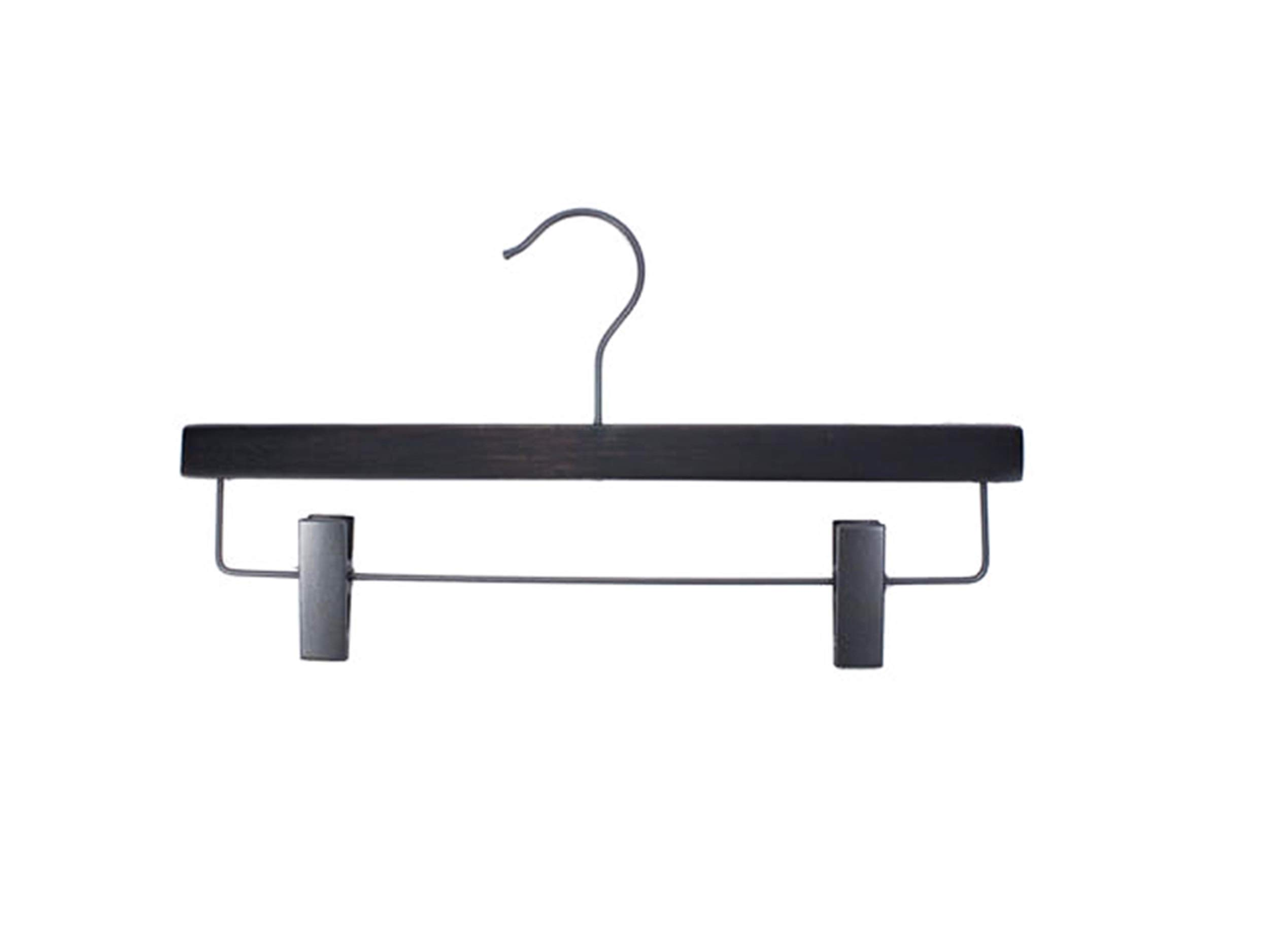 NAHANCO 20714RC Wooden Pant/Skirt Hanger, 14'', Low Gloss Espresso Finish (Pack of 100)
