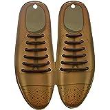 [AIKOO] 靴紐 革靴 ビジネス 黒 茶 ブラウン 白 ゴム 紐なし靴 登山靴 長靴 伸縮性 メンズ スニーカー 伸びる 丸紐 通勤 仕事靴 結ばない シューレス