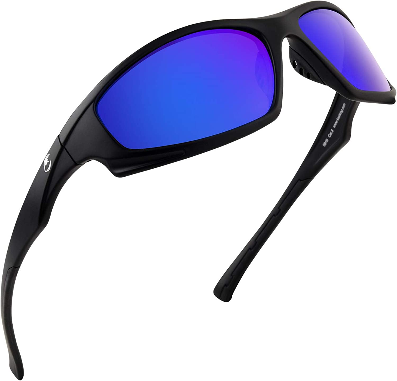 Ideal for Driving Fishing UV Protection Calamus Turmoil Polarized Sport Sunglasses for Men Women