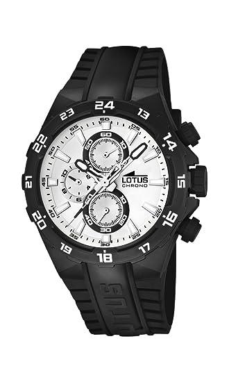 5eaba410cab8 Lotus Champion 15800 C - Reloj analógico de Cuarzo para Hombre ...