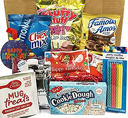 Happy Birthday Care Package For Women Men Sister Bestfriend Dad Teens With Birthday Treats Birthday Sweets Surprise