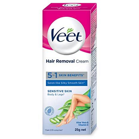 Buy Veet Silk Fresh Hair Removal Cream Sensitive Skin 25 G