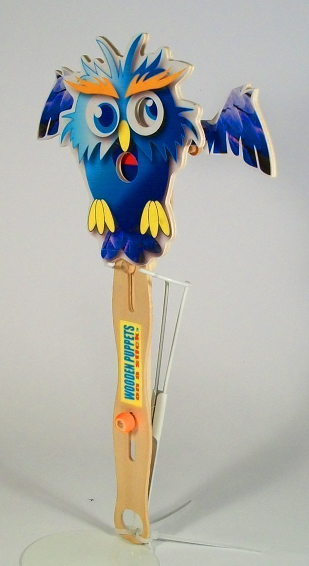 Wooden hand puppet Wise Owl