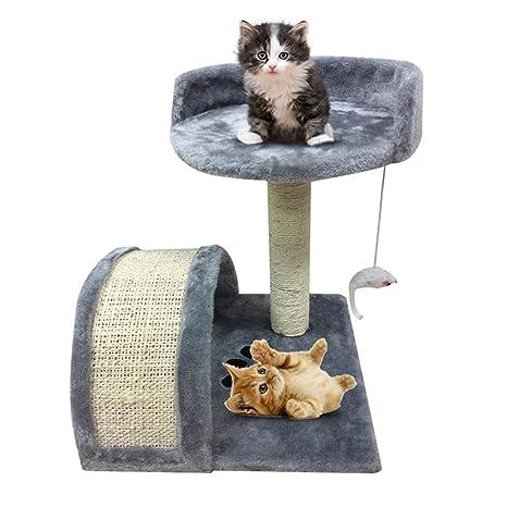 blackpoolal Rascador Árbol para gatos Escalada Árbol para gatos Sisal y revestimiento de peluche gato Muebles