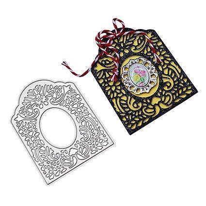 Stitched Tags Metal Cutting Dies Stencils For DIY Scrapbooking Card Craft Dec HK