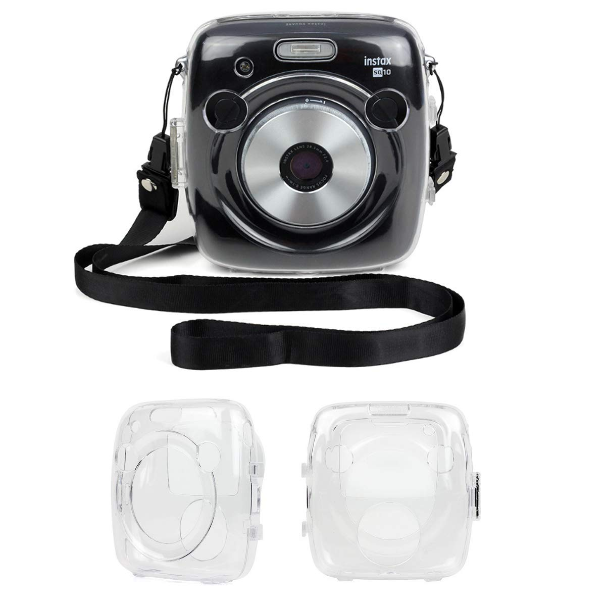 Correa Pegatina de la Correa Bolsas de Encaje Kit de Accesorios 7 en 1 para c/ámara Fujifilm Instax Square SQ10 Pack de Funda Protectora Transparente Pegatina de la Esquina JXE