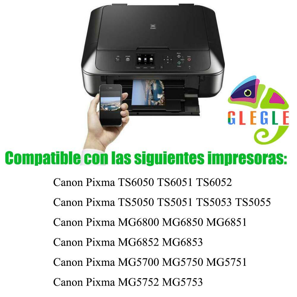 GLEGLE PGI-570XL CLI-571XL Cartuchos Tinta Canon 10 Reemplazo para ...