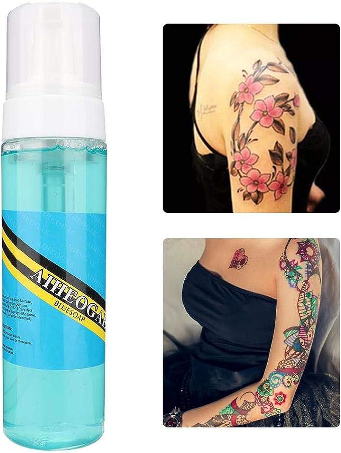Furnoor Tatuaje Diluyente Tatuaje Espuma Limpiadora Jabón líquido ...